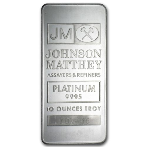 10 Oz Platinum Bar - Johnson Matthey